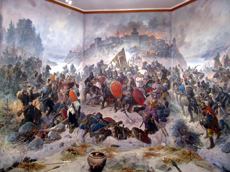 диорама «Оборона Козельска в 1238 году»