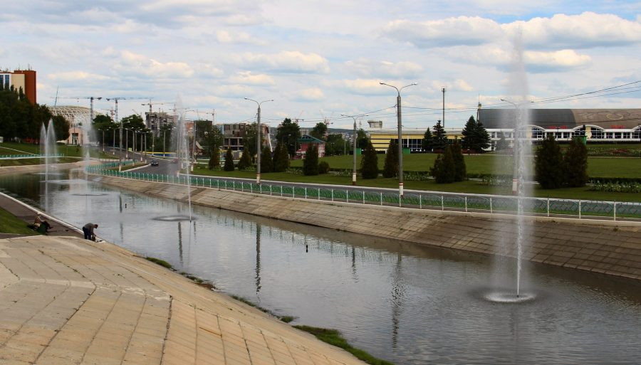Фонтанный комплекс на реке Саранке