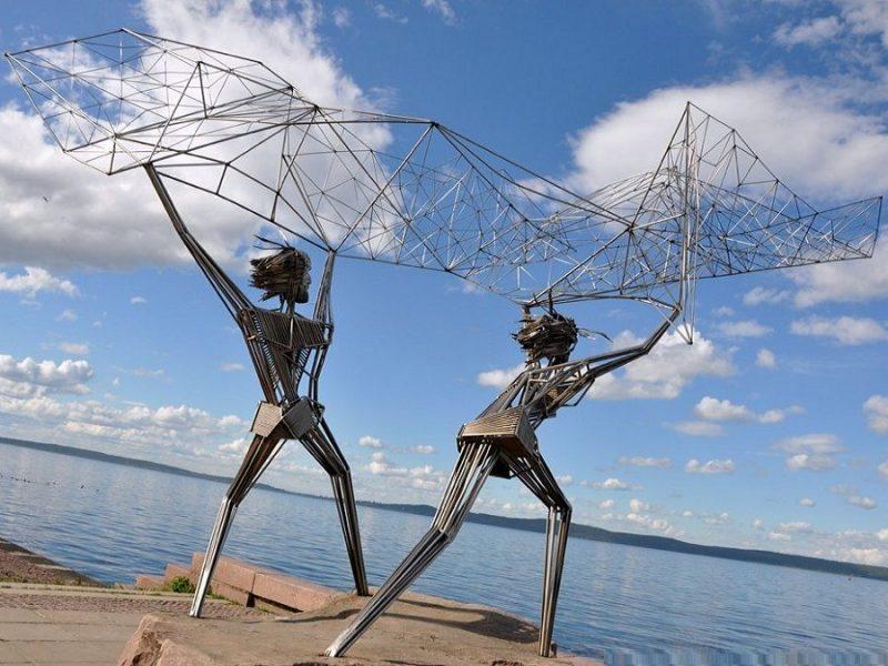 Скульптура Рыбаки Петрозаводск
