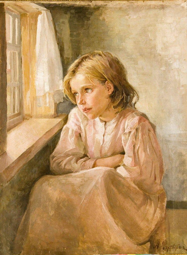 Картина Девочка у окна Ржевская А.П.