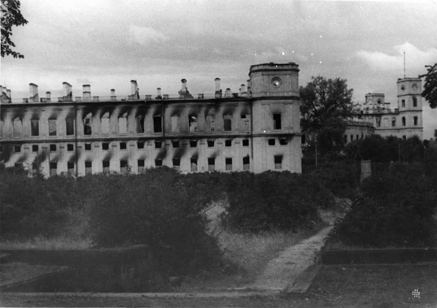 Гатчинский дворец 1944 год