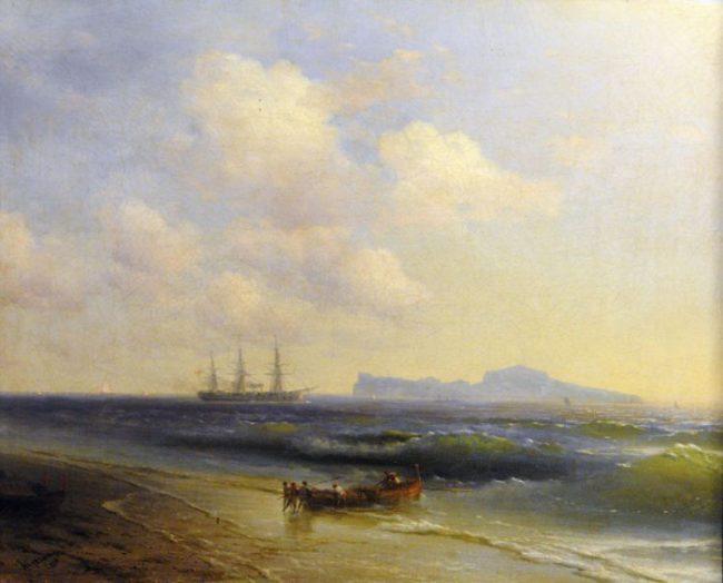 Картина Айвазовского Море у острова Капри