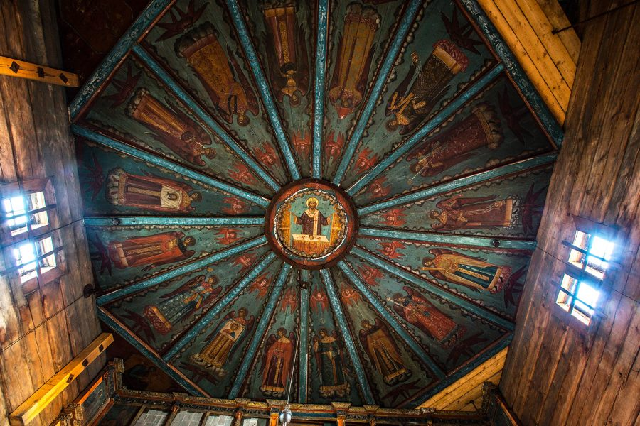 Потолок Успенской церкви Кондопога