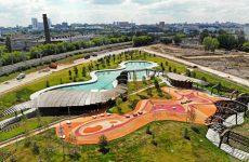 Парк Тюфелева Роща в Москве: пергола и голубая лагуна