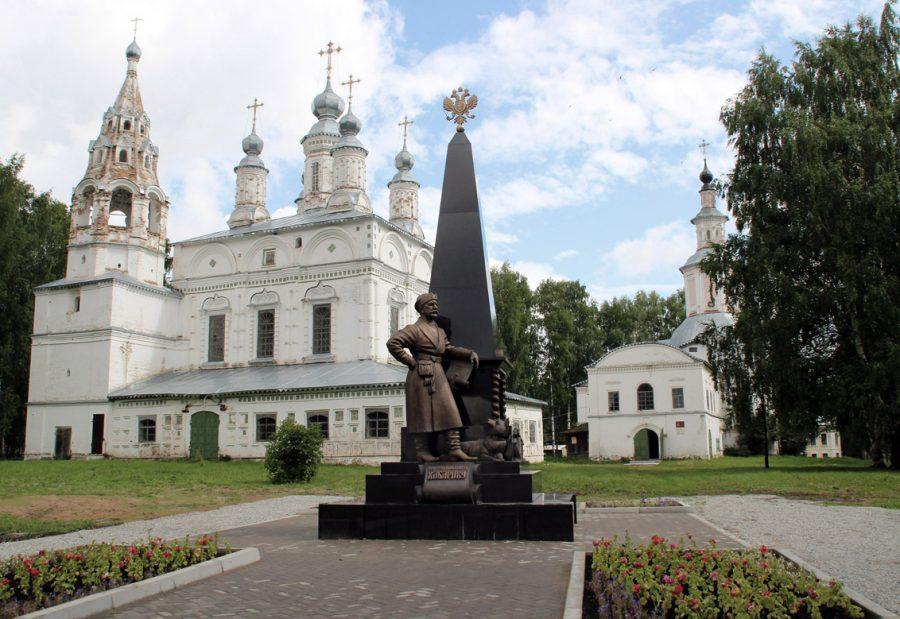 Памятник Ерофею Хабарову в Великом Устюге
