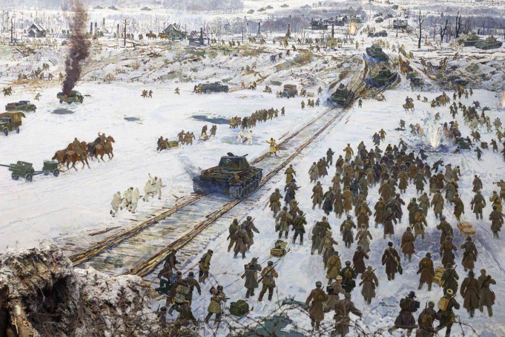 Фрагмент диорамы Прорыв блокады Ленинграда