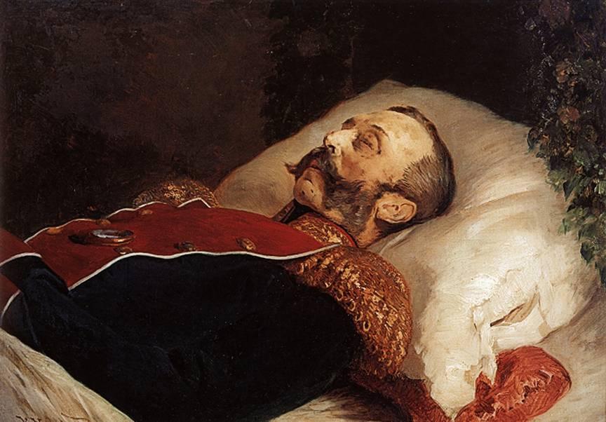 Александр II на смертном одре