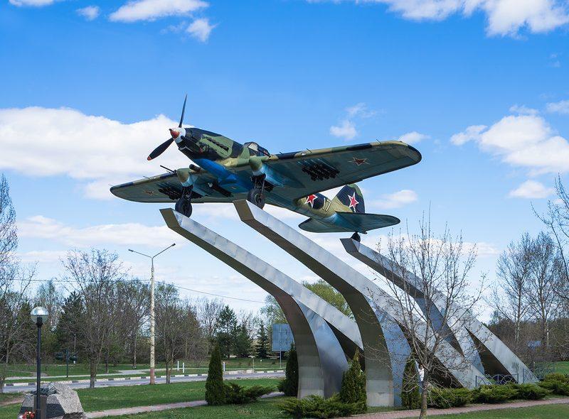 Памятник штурмовику ИЛ-2 Дубна