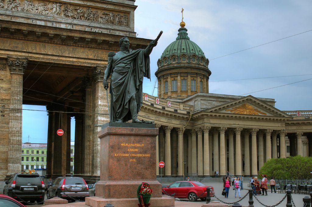 Казанский собор памятник Кутузову
