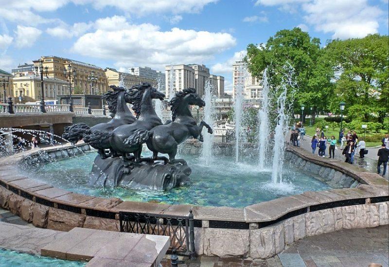 Фонтан Гейзер в Москве