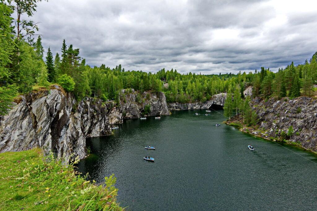 Горный парк Рускеала - достопримечательности Карелии