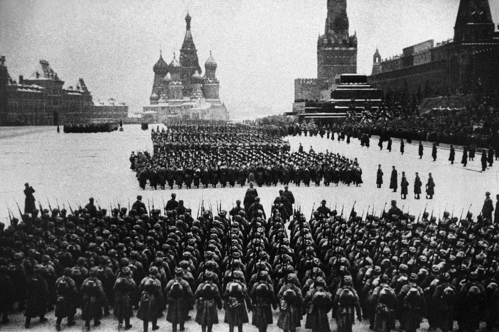 Парад на Красной площади 1941
