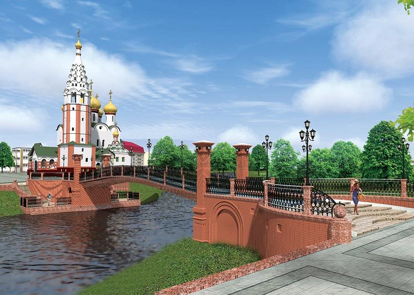 Пешеходный мост Героев Гусев