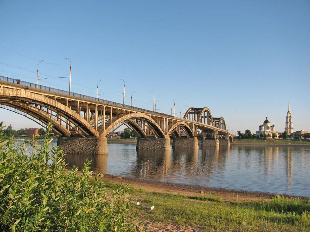 Волжский мост Рыбинск
