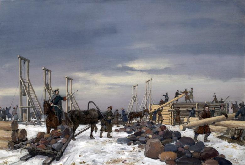 А.А. Тронь. Строительство форта «Кроншлот»