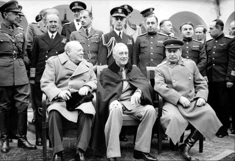 Черчилль, Рузвельт, Сталин в Ялте