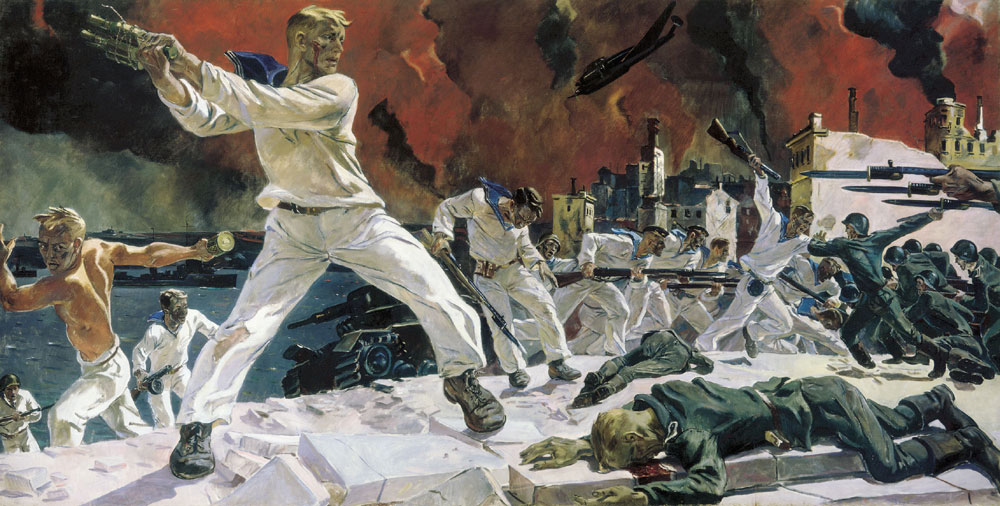 Оборона Севастополя картина Дейнеки