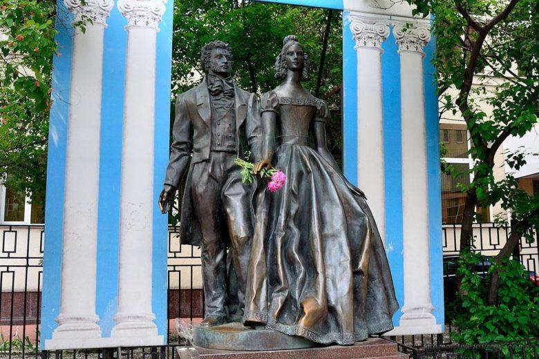 Памятник Пушкину и Гончаровой Арбат