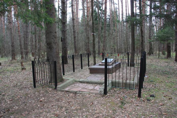 первое захоронение Зои Космодемьянской