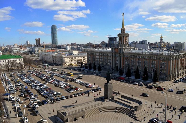 Площадь 1905 года Екатеринбург