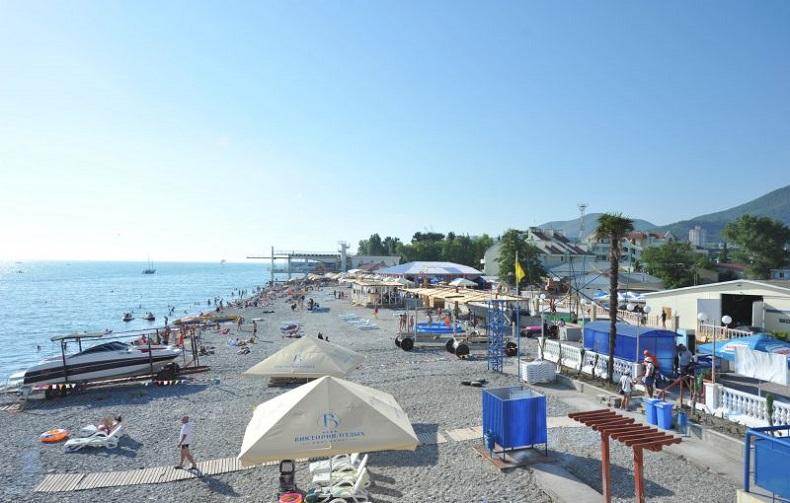Пляж Багратион в Сочи