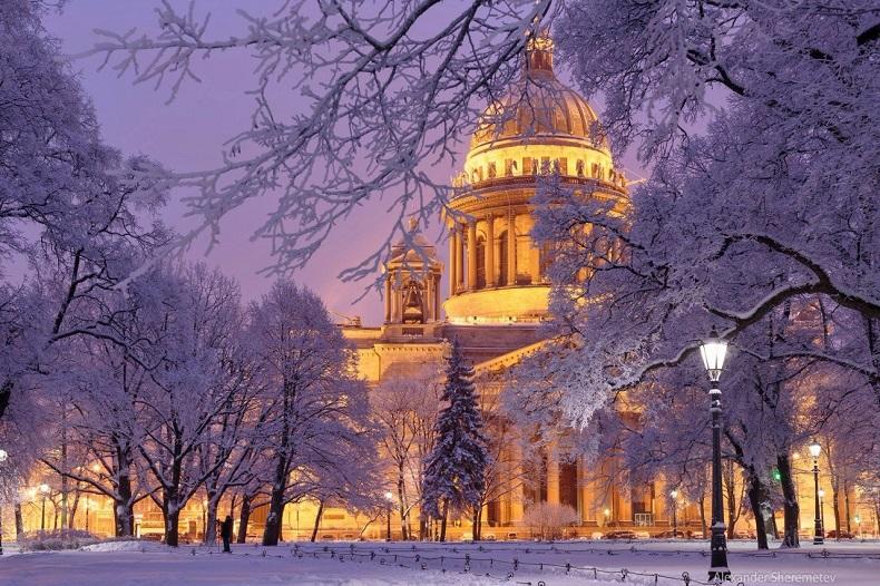 Самые красивые города зимой