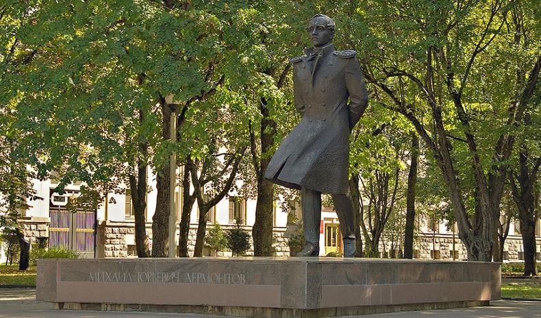 Памятник Лермонтову Ставрополь