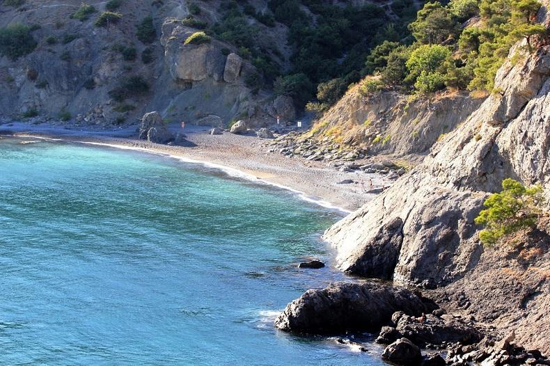 Царский пляж Новый Свет