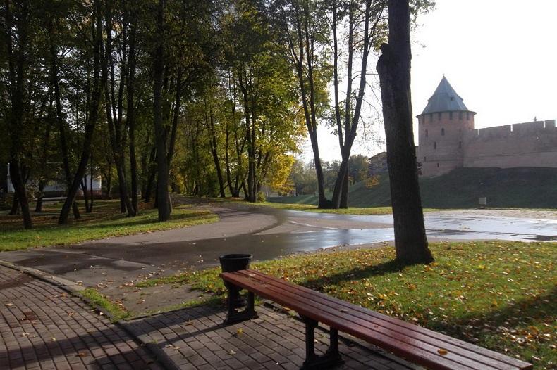 Кремлевский парк Великий Новгород