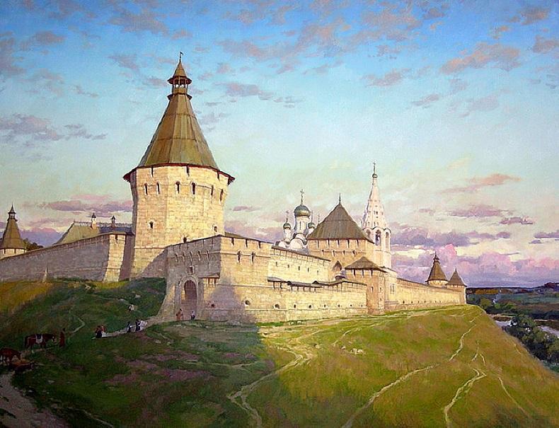 Серпуховский кремль, картина Бурдыкина