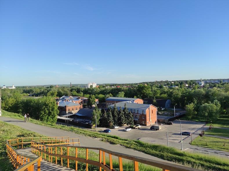 Вид со смотровой площадки на Соборной горе Серпухов