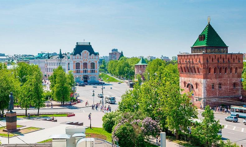 Площадь Минина и Пожарского Нижний Новгород